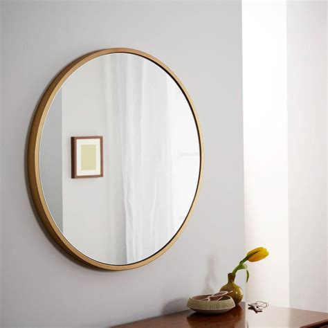 west elm round framed round wall mirror west elm uk