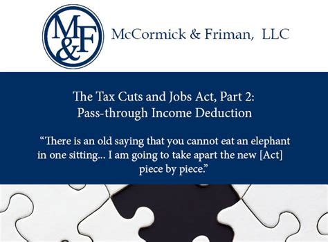 tax cuts and act your guide to the 2018 tax books the tax cuts and act part 2 pass through income