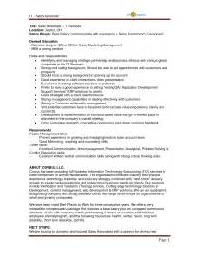 description of a sales representative resume
