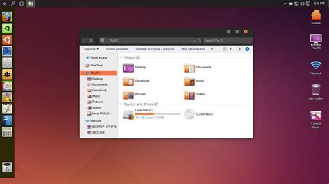 themes windows 10 ubuntu ubuntu theme for win10 by hamed1987s on deviantart