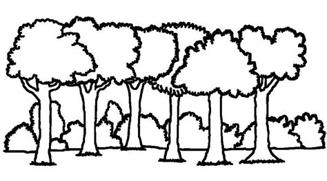 Forest Clipart Black And White black white drawings cliparts co
