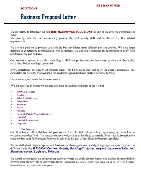 Introduction Letter Of Manpower Company Business Letter