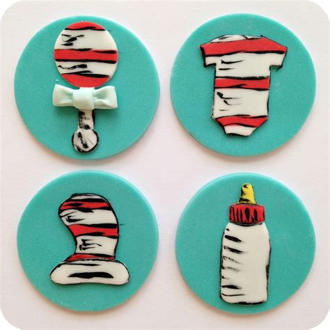 Dr Seuss Baby Shower Cupcakes by Cupcakes