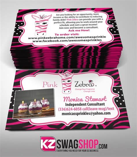 partylite business card template pink zebra business cards style 2 kz swag shop