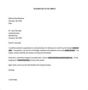 Resignation Letter Free Template by Simple Resignation Letter Template 28 Free Word Excel
