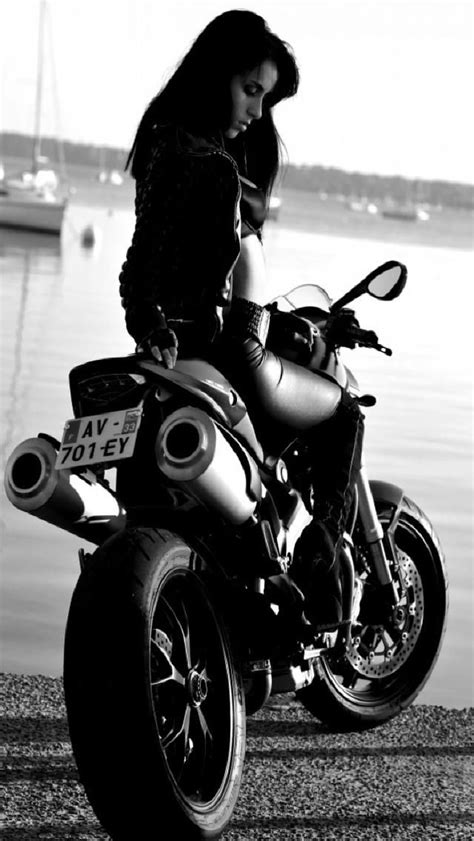 black and white motorcycle wallpaper girl on bike mobile9 iphone5 wallpaper gt gt http m9 my