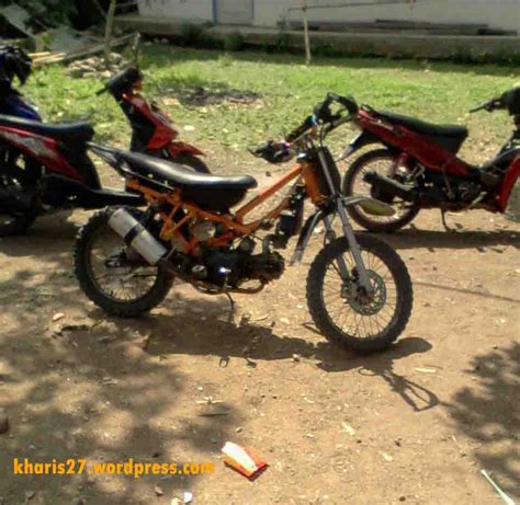 Motor Bebek Oranye bebek bebek modif ala ngetrail kharis27