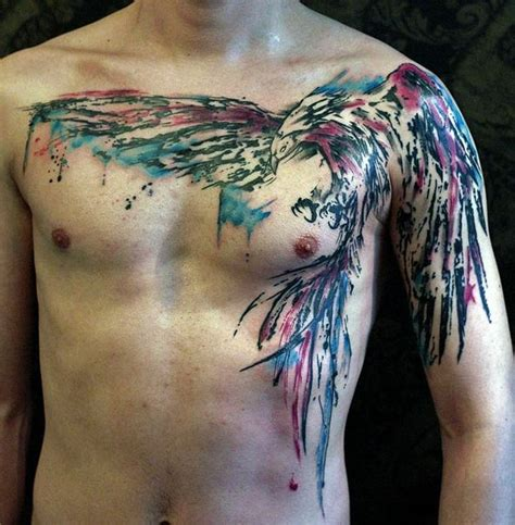 watercolor chest tattoo ideas 35 artistic watercolor designs for