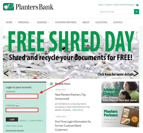 planters bank internet online banking sign in login