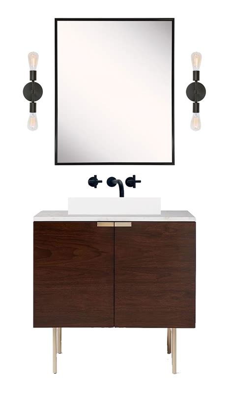 mid century modern sink cabinet how to a mid century inspired vanity from a modern