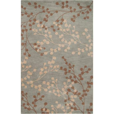 9 ft area rug artistic weavers blossoms blue wool 9 ft x 12 ft area rug the home depot canada