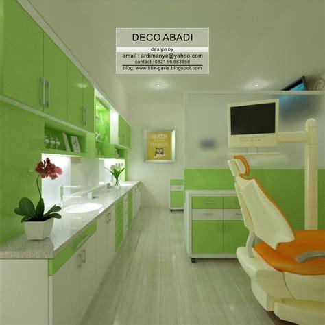desain interior klinik gigi  bangunan ruko rumah garis