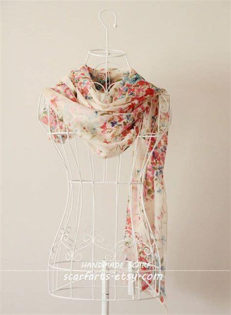 top 28 shabby fabrics infinity scarf summer scarf little flower scarf floral silk scarf