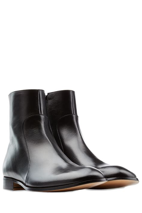 margiela boots mens maison margiela leather boots black in black for lyst
