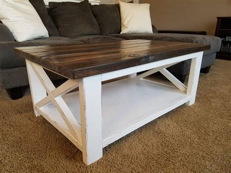 diy rustic coffee table white rustic x coffee table diy projects