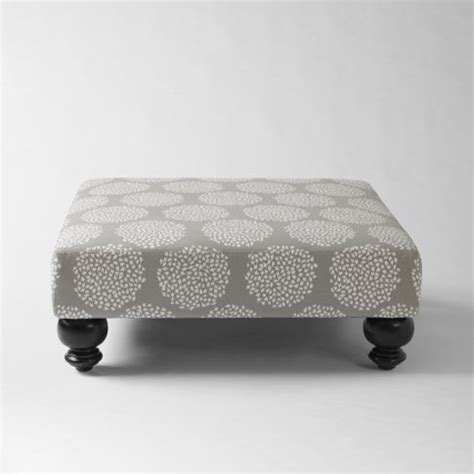 Printed Ottoman Essex Printed Ottoman Platinum Contemporary Footstools And Ottomans By West Elm