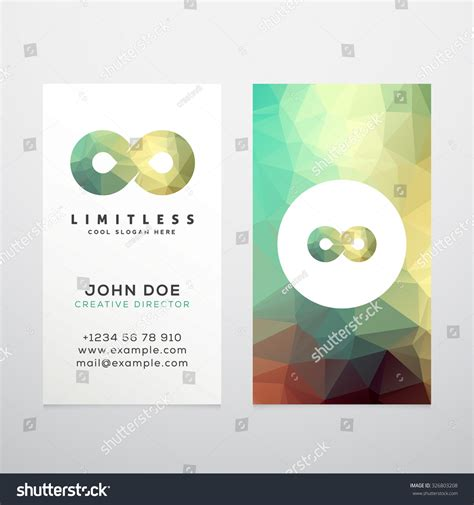 infinity card template abstract vector limitless infinity symbol icon stock