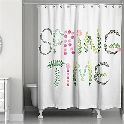 spring shower curtains designs direct spring quot spring time quot 74 inch shower curtain