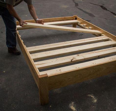 oak platform bed frame oak or ash simple platform bed frame custom made of solid