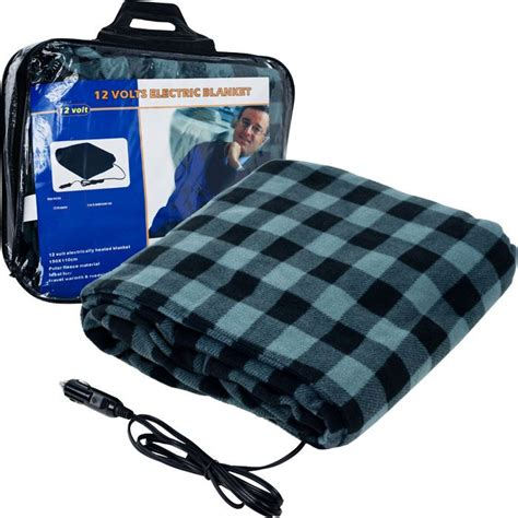 blanket for car trademark tools plaid electric blanket for automobile 12 volt automotive