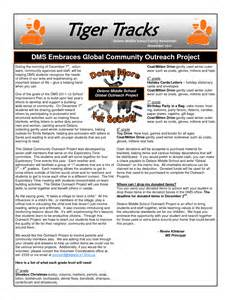 school newsletters templates middle school newsletter templates free