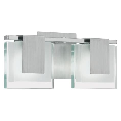 Clapper For Ceiling Lights Eglo Eglo 90039 Clap Wall Light In A Chrome Brushed Aluminium Finish And Square Glass