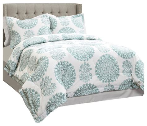 seafoam comforter set evelyn seafoam medallion 4 piece comforter set