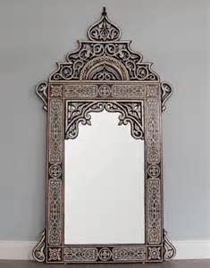 Moroccan bone inlay mirror home accessories mirrors back