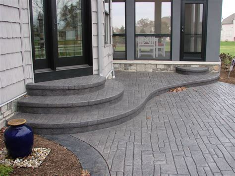 Patio Stamped Concrete Overlay Patio Designs Awesome