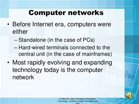 basic overview of information technology and uses