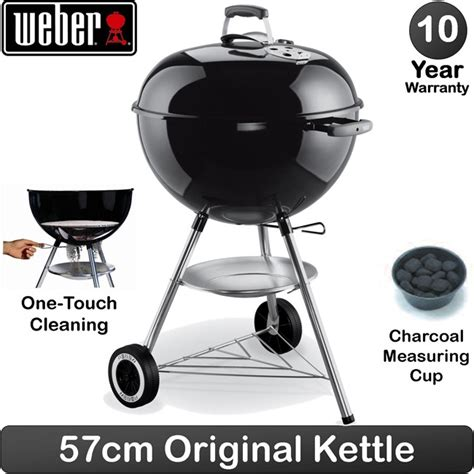 Weber Original Kettle 57 5058 weber 57cm 22 5 inch charcoal kettle barbecue original