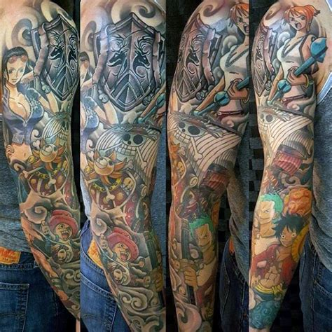 anime sleeve tattoo designs 60 anime tattoos for cool design ideas