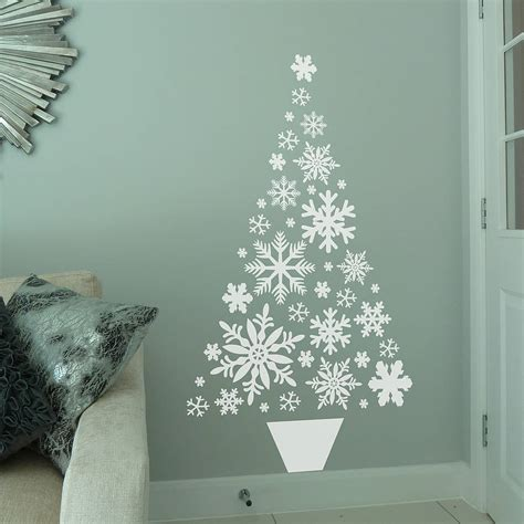 snowflake christmas tree wall sticker by all things