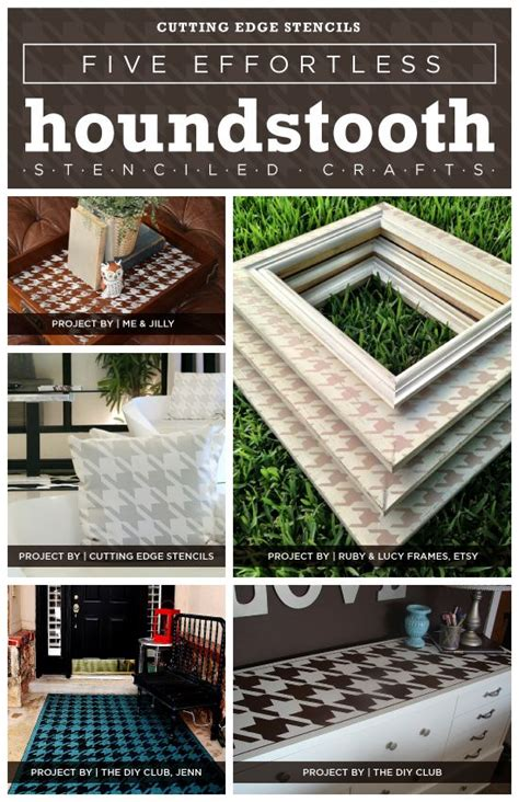 houndstooth home decor five simple home decor projects using the houndstooth