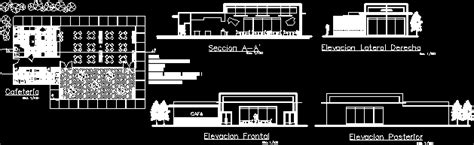 coffee shop design autocad drawings coffee bar with floor plans 2d dwg design section for