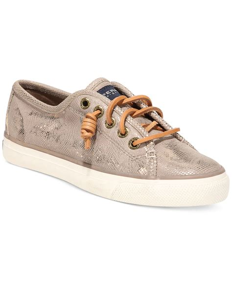 sperry sneakers womens lyst sperry top sider s seacoast sneakers in metallic