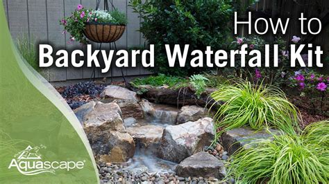 how to make a backyard waterfall how to build a backyard waterfall youtube
