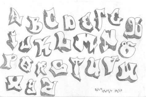 printable graffiti fonts sketch graffiti font sketch templates