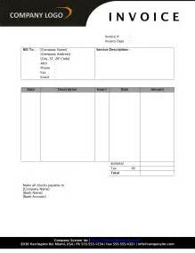 word 2010 invoice template general service invoice freewordtemplates net