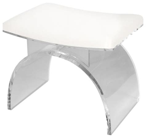 Worlds Away Counter Stool by Worlds Away Lucite Arched Stool Base Contemporary Bar