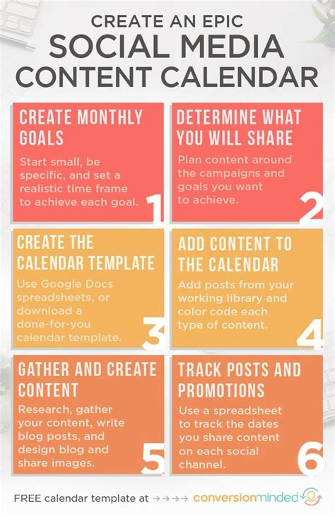 epic social media content calendar template    tutorial social media calendar