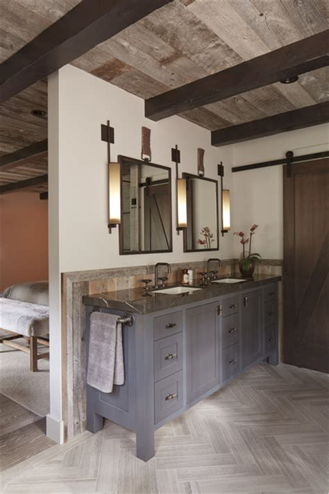 Modern Rustic Bathroom Ideas Tahoe Modern Rustic Bathroom San Francisco By