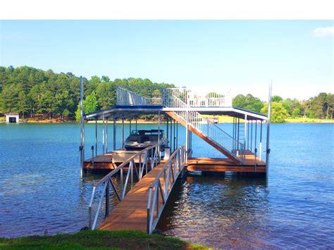 boat lift lake lanier double slip boat docks boat dock works