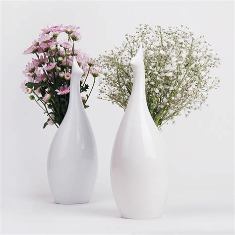 Vases And Flowers by Peakco Peacock Flower Vase The Green