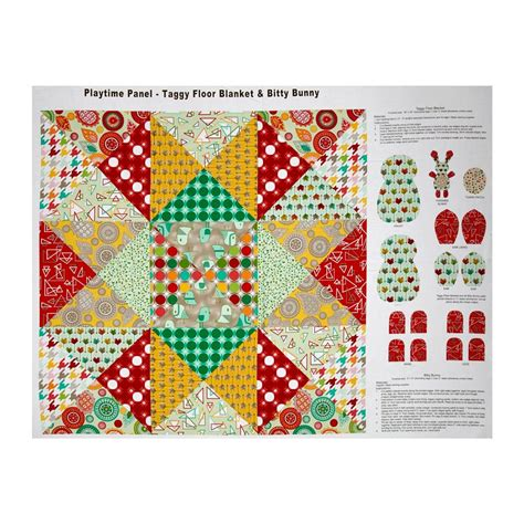 Patchwork Panels - modern tyke patchwork 36 quot panel multi discount designer