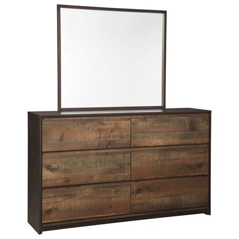 modern bedroom dresser modern rustic dresser bedroom mirror by signature design