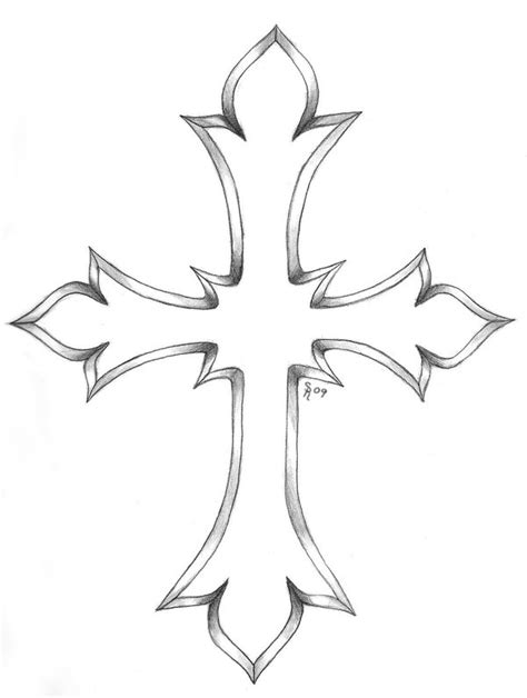 cross tattoo outline cross images designs