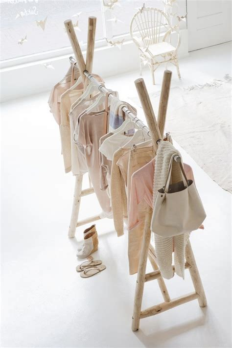 build   standing wooden clothes rack