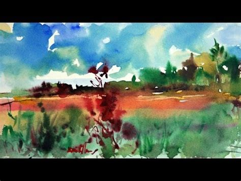 watercolor landscape tutorial youtube how to paint a watercolor landscape demo quot summer quot by mikko