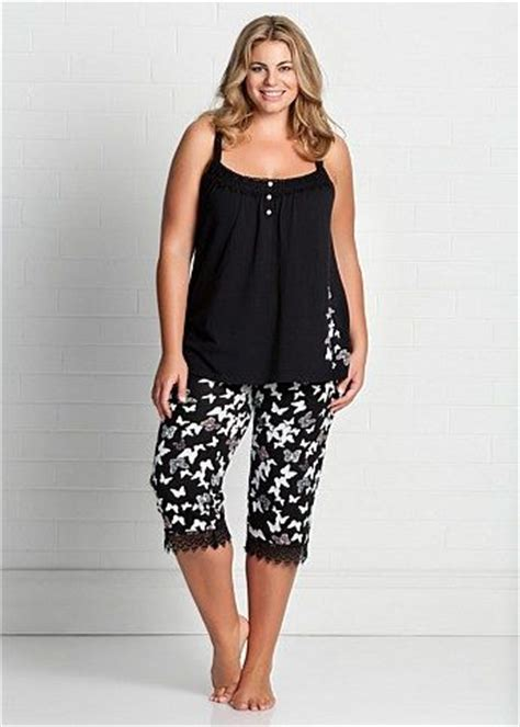 K09 Polka Black Longpants Piyama fashion plus size large size womens clothes tops